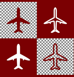 airplane sign bordo and vector image