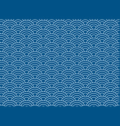 background blue japanese wave pattern vector image