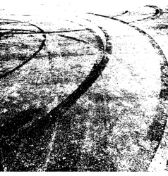 Background with traces of tires vector image