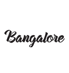 bangalore text design calligraphy vector image