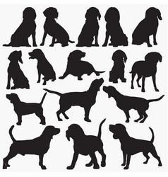 Beagle silhouettes vector
