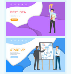 Best idea web page start up programming people vector