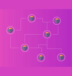 Blockchain komodo symbol concept background vector