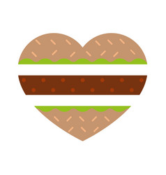 burger in shape of burger vector image
