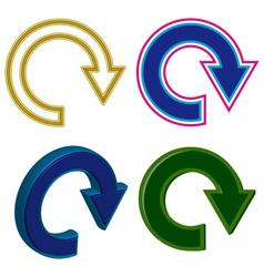 circle with an arrow vector image