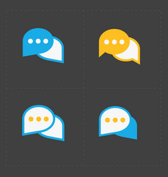 Colorful speech bubble icons vector