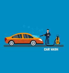 Concept for car washing service car wash service vector