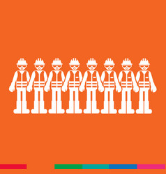 construction worker people icon design vector image
