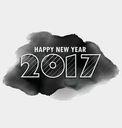 Creative 2017 lettering on black ink background vector