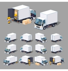 Cube World White truck vector image