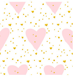 cute heart paint seamless pattern vector image
