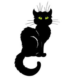 dark cat silhouette vector image