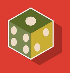 Dice sticker design isolated dice casino gambling vector