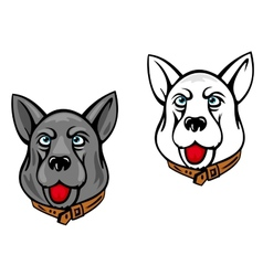 Dog mascots vector image