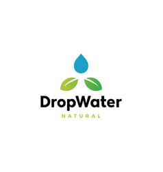 drop water leaf logo icon vector image