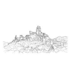 Famous castle landscape ancient architectural vector