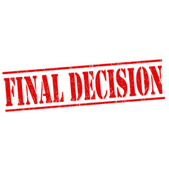 final decision stamp vector image