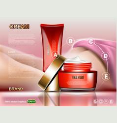 Full body cream moisturizer with vitamins skin vector