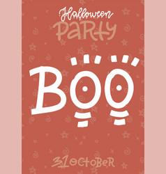 funny handwritten halloween vertical poster vector image