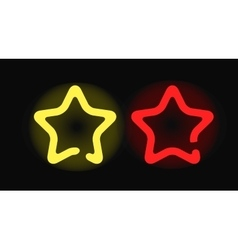 glowing neon stars design night shape vector image