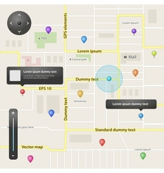 GPS navigation elements vector