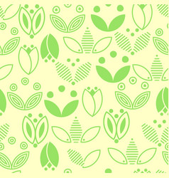 Green flower logo vector