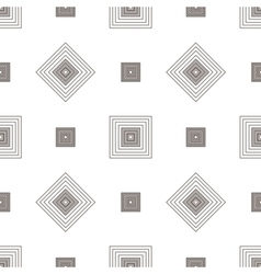 Grey square geometric seamless pattern vector image