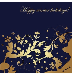 Happy winter holidays - card vector image