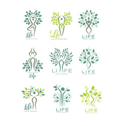 healthy life logo for wellness center spa salon vector image