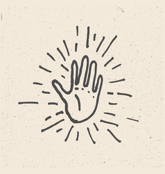 high five hand vector image