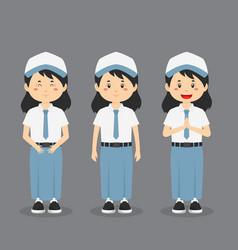Indonesian senior high school character vector