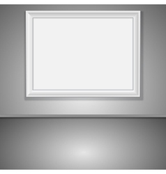 Interior with empty frame vector