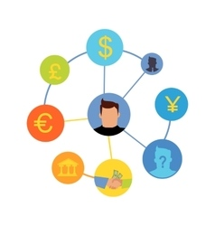 International Currency Exchange Concept vector