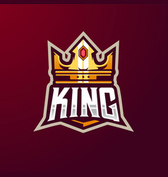 King logo design with modern vector