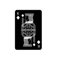 King of diamonds or tiles french playing cards vector