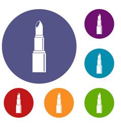 Lipstick icons set vector