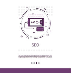 Local seo keywording search banner with copy space vector
