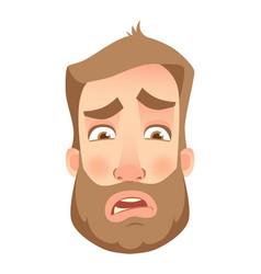 Man face close up vector