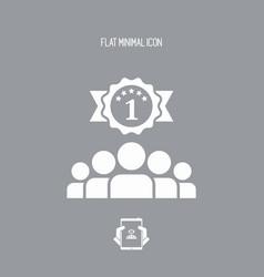 match winner - flat minimal icon vector image