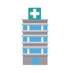 Medical center building emergency first health vector