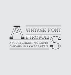 Metropolis font vector