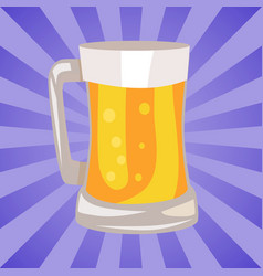 mug of light beer isolated vector image