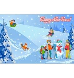 new year congratulation vector image