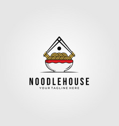 noodle house food logo symbol design vector image
