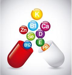 Nutrition supplements vector