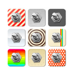 panel toggle switches set vector image