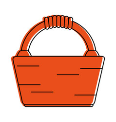 picnic basket icon image vector image