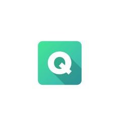 Q modern gradation shadow letter logo icon design vector