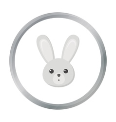 Rabbit cartoon icon for web and vector