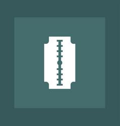 razor icon simple barbershop vector image